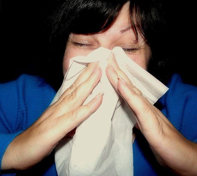 sick, sneezing, common cold