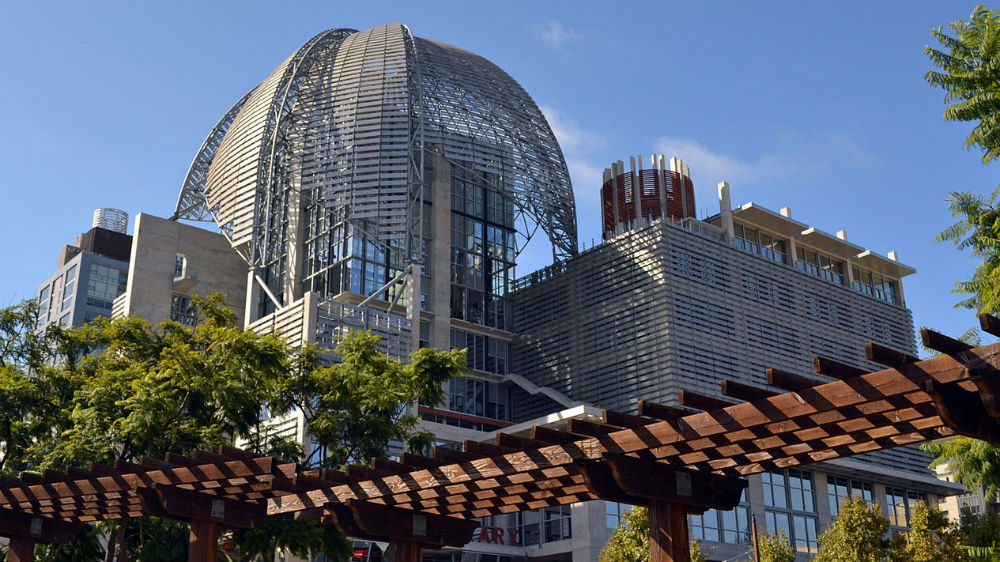 The San Diego Central Library. Photo by Navid Serrano via Wikimedia Commons