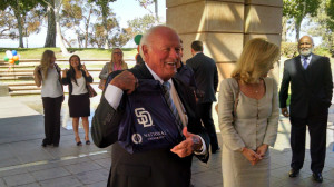Danny Sanford arrives for the dedication of the Sanford Education Center. Photo by Chris Jennewein