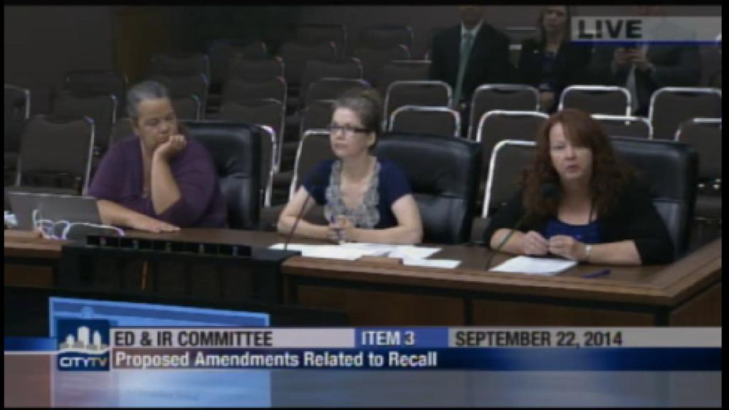 San Diego City Clerk Elizabeth Maland Proposed recall admendment