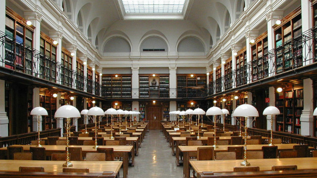 The classic library: the reading room at the university in Graz, Austria. Photo by Dr. Marcus Gossler via Wikimedia Commons