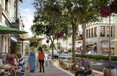 Artist's rendering of One Paseo's main street. Courtesy Kilroy Realty