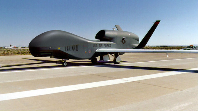An Air Forece RQ-4 Global Hawk. Courtesy Northrup Grumman