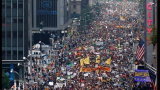 The People's Climate March in NYC. Photo from Twitter.