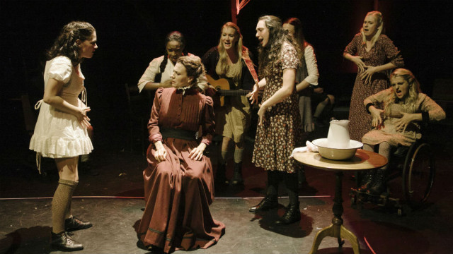 """Deaft Weat Theatre's production of """"Spring Awakening"""" in Los Angeles. Photo by Tate Tullier"""
