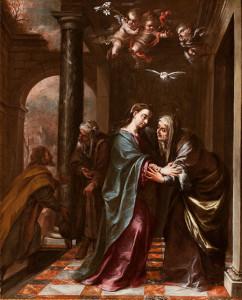 """""""The Visitation,"""" by Juan de Valdés Leal, 1673."""