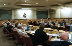 A board meeting of the San Diego County Water Authority board. Courtesy of the Water Authority