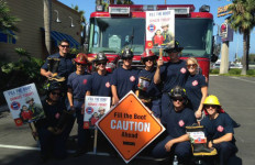 Carlsbad firefighters will be part of the Fill the Boot campaign Tuesday. Photo credit: MDA San Diego  via Facebook.
