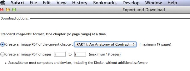 The 19-page limit of an Ebrary  book.