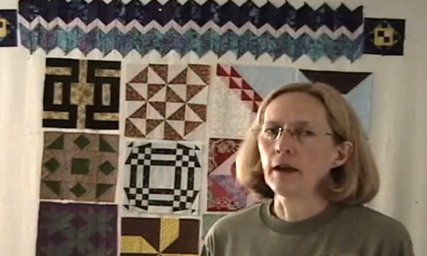Penny Halgren made a business of quilting for a time. Image via YouTube