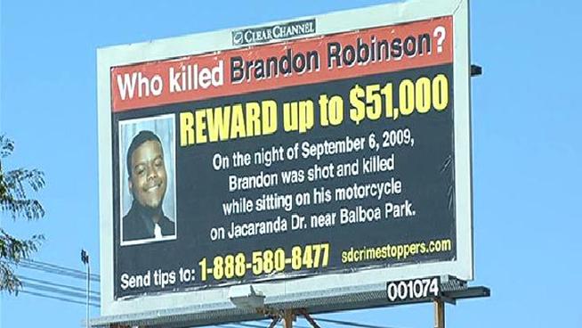 Brandon Robinson Murder Billboard