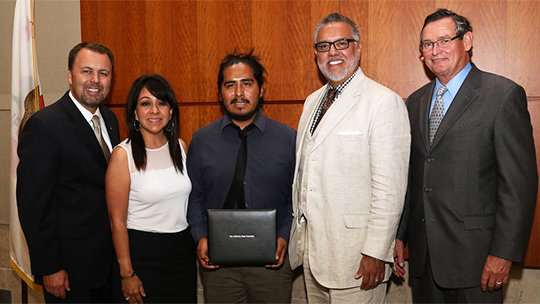 Sergio Juarez, a San Diego State University senior, who was the campus' nominee for a prestigious state-wide honor. Photo credit: newscenter.sdsu.edu