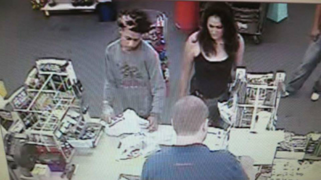 A man and woman wanted in connection with the use of stolen bank cards. Photo credit: San Diego County Sheriff's Department via Facebook.