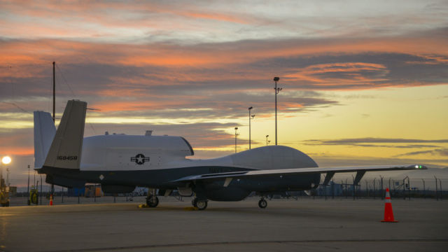 The Navy's second MQ-4C Triton at a Northrop Grumman facility in Palmdale, CA. Courtesy Northrop Grumman