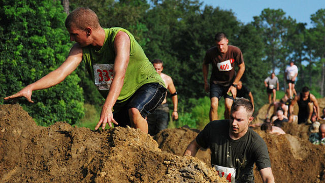 Mud Run courtesy of Wikimedia Commons.
