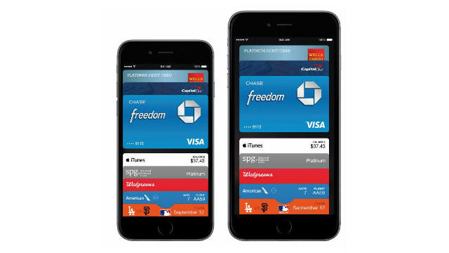 Apple Pay on iPhone 6 models. Courtesy Apple Computer