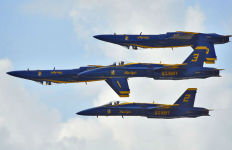 The Navy's Blue Angels flight demonstration team. Navy photo