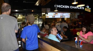 The line was out the door Saturday morning as Chicken Charlie's opened for business.