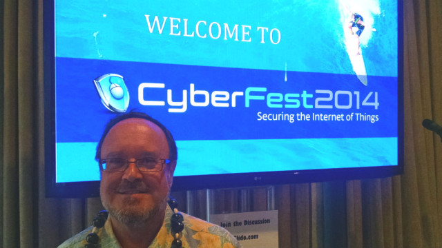Christian Byrnes of Gartner Inc. at CyberFest2014. Photo by Chris Jennewein