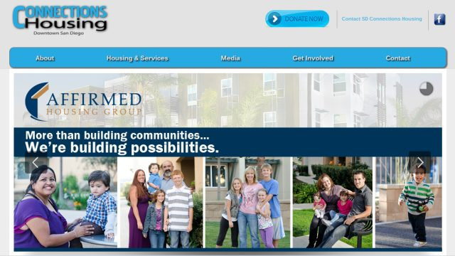 Connections Housing benefited from an $11.5 million investment  from UnitedHealthcare. Screen grab of Connection Housing website