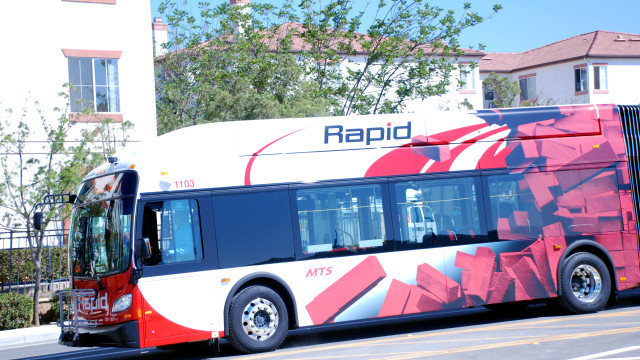 MTS Rapid Transit Bus
