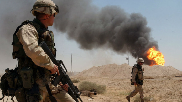 U.S. soldiers in Iraq in 2003