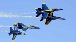 The Blue Angels performed Friday afternoon at the end of the first day of the Miramar Air Show.