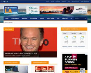 The MyNewsLA.com home page.