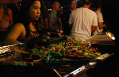 One of the more than 50 vendors at the night market. Photo by Alexander Nguyen