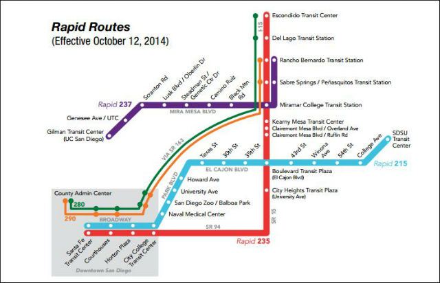 Rapid Bus Routes