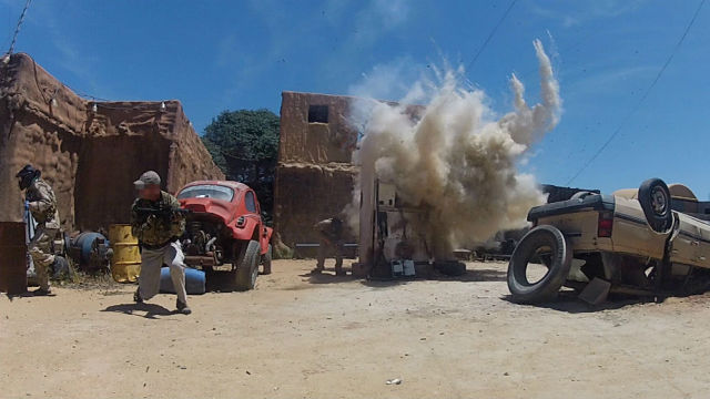 The Jenks Group's war game training on a movie set in San Diego. Photo courtesy Jenks Group