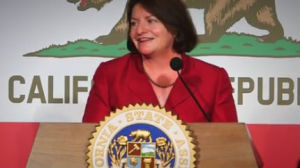 Toni Atkins, speaker of California Assembly.
