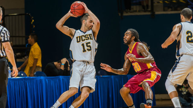 UCSD men's basketball. Photo courtesy UC San Diego Athletics