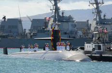 The USS La Jolla returns to Pearl Harbor from its final deployment. Navy photo