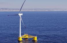 A floating wind turbine planned for the Oregon coast. Courtesy Bureau of Ocean Energy Management