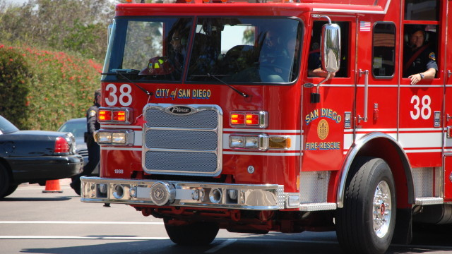 A San Diego Fire-Rescue Department vehicle. Photo by Alexander Nguyen