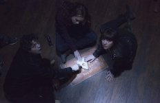 """Still of Douglas Smith, Ana Coto and Olivia Cooke in """"Ouija"""". Photo courtesy of Universal Pictures"""