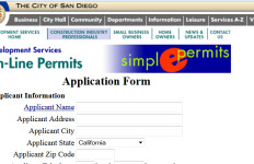 The city of San Diego unveiled new sections of its website to the public to track bids on contracts and to track permits. Screen grab of the City's website