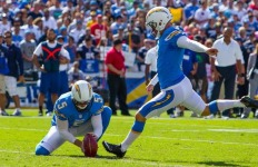 Chargers Kicker Nick Novak set the franchise record with 30 straight field goals. Courtesy of the San Diego Chargers
