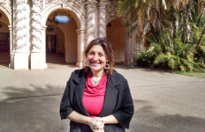 Alissa Hauser, executive director of The Pollination Project, in Balboa Park. Photo by Chris Jennewein
