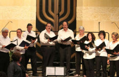 The choir at Congregation Beth Israel.