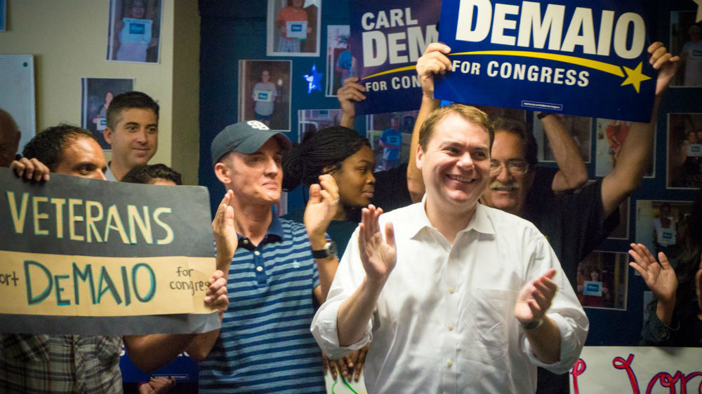 Carl DeMaio at a rally on Saturday. Campaign photo