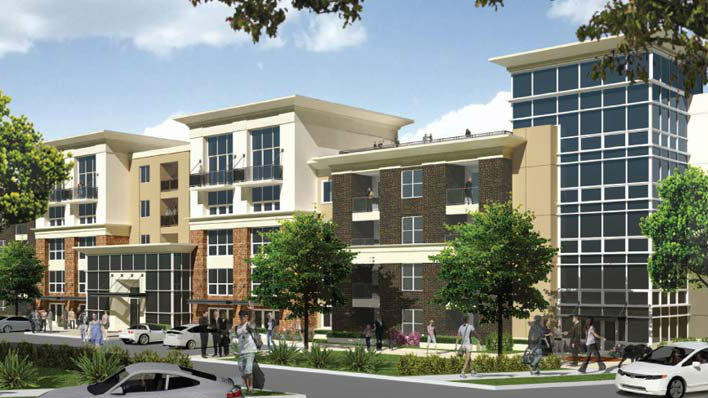 A rendering of the new Civita luxury apartments now preleasing in the West Park area.