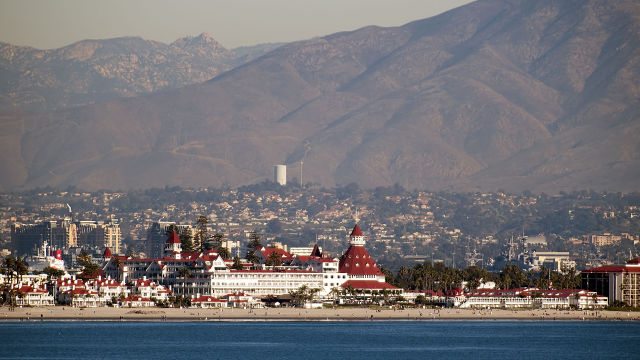 The City of Coronado with the landmark Hotel Del Coronado. Photo via Wikimedia Commons