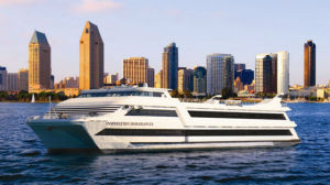 The Inspiration Hornblower off downtown San Diego. Courtesy Hornblower Cruises