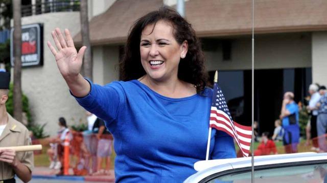 Assemblywoman Lorena Gonzalez Fletcher at Veterans Day parade. Photo by Chris Stone