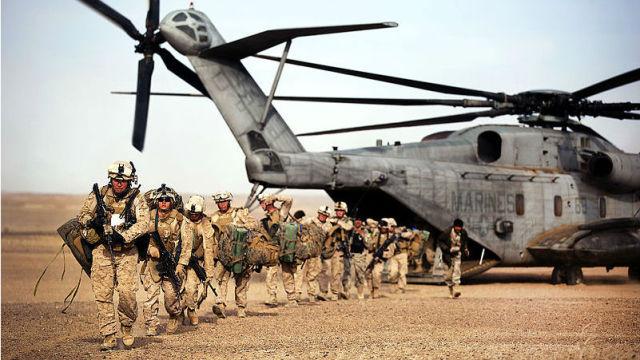 U.S. Marines in Helmand province in Afghanistan in 2012. Courtesy U.S. Marine Corps
