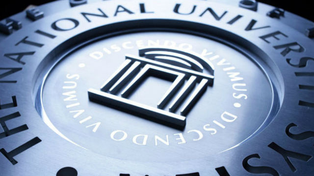The National University System seal. Courtesy National University
