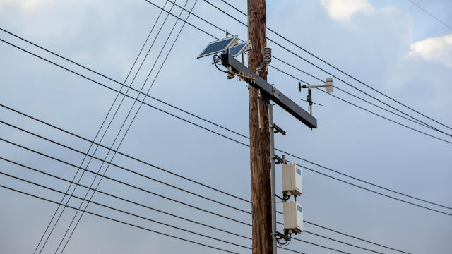 A power pole in San Diego. Photo Credit: SDG&E