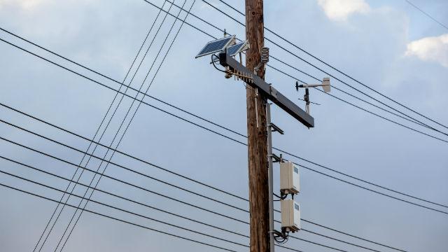 A power pole in San Diego. Photo courtesy SDG&E